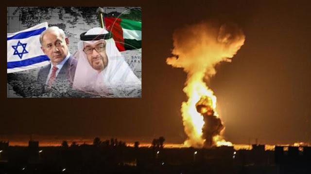 Pasca Rekonsiliasi UEA-Israel, Pesawat-pesawat Tempur Israel Bombardir Gaza