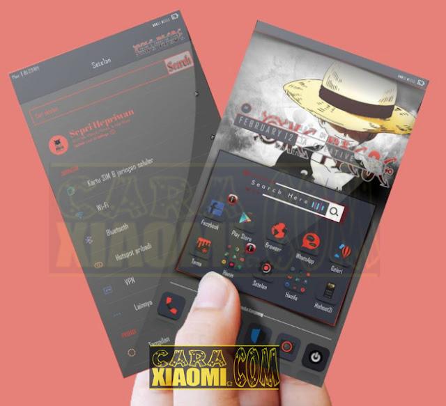 Xiaomi Redmi Theme Dark Luffy V2 Mtz Update New Look Desain