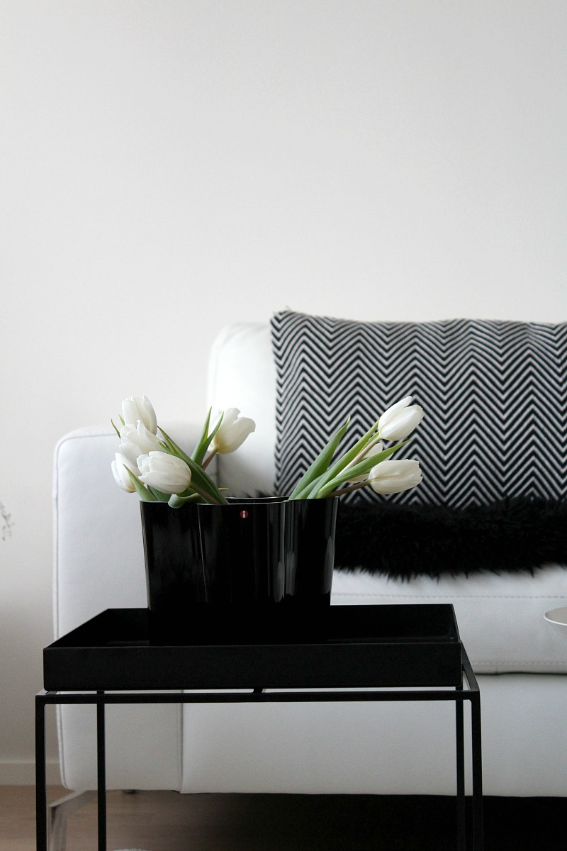 scandinavian monochrome living room