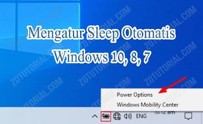 Cara Membuat Komputer Sleep Otomatis by zotutorial.com