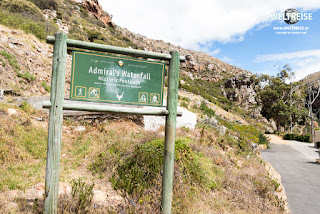 world travel to the Admiral's waterfall in simons town, peninsula, cape town, south africa. WELTREISE