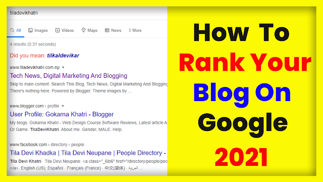How To Rank Blogger Blog On Google - Latest Tips Of 2021