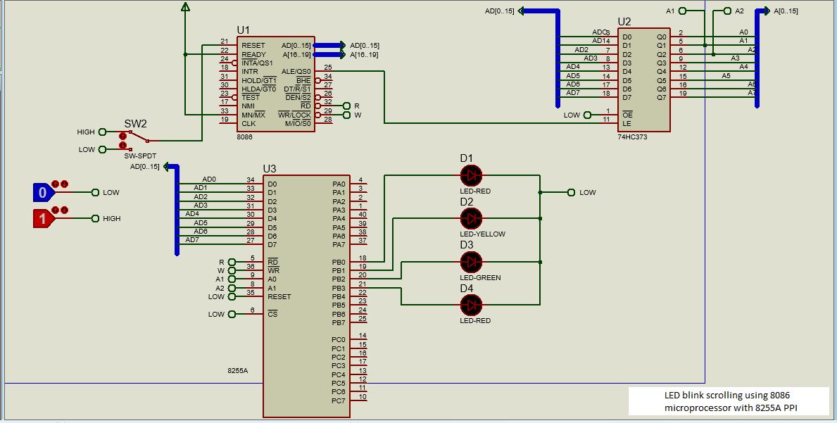 8086 simulation
