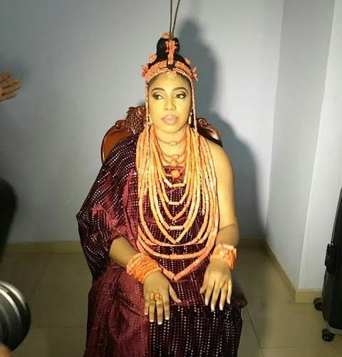 Picture of ooni of ife wedding to Wuraola Zynab Otiti in Benin