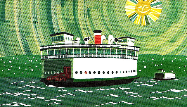 Merrill Grant, children's book, ferry in sun