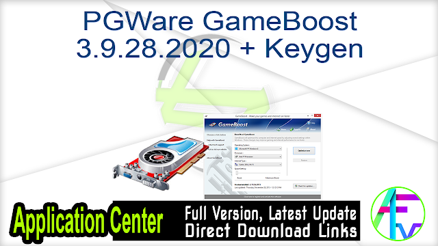 PGWare GameBoost 3.9.28.2020 + Keygen