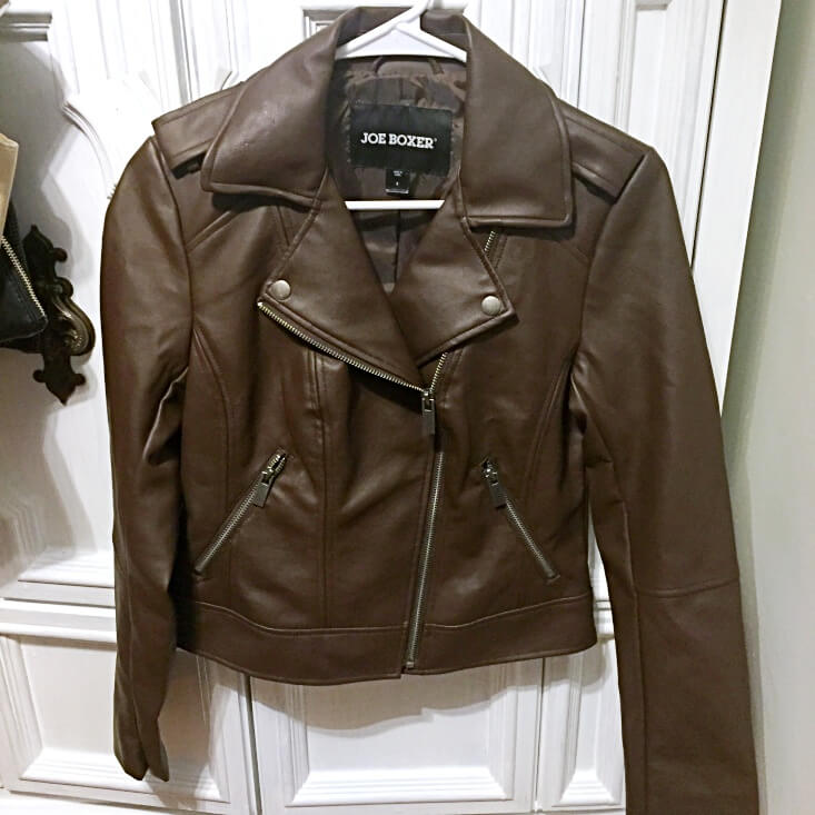 Joe Boxer Chocolate Brown Leather Jacket