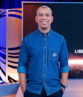 O apresentador Luiz Alano - (Foto: Beatriz Nadler/SBT)