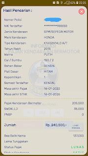 cek pajak kendaraan jateng