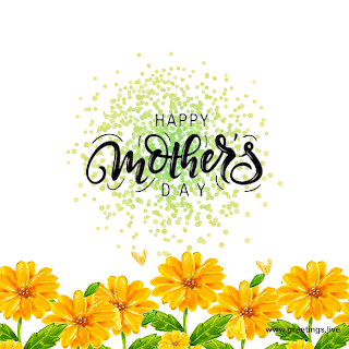 happy mother's day wishes,and painted yellow flowers greetings