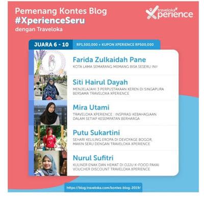 Juara ke Sepuluh Xperience Seru Traveloka Blog Contest 2019 Nurul Sufitri Travel Lifestyle Blogger Ojju K Food Review