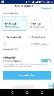 Paytm Gold back Promo code Offer Old And New User