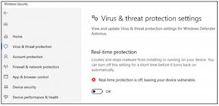 cara nonaktifkan anti virus windows defender