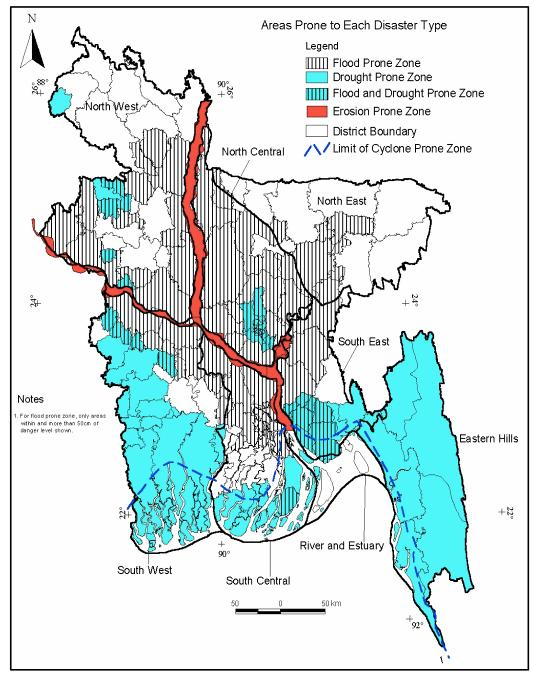 Disaster Prone Area Map Bangladesh
