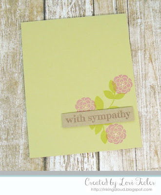 With Sympathy card-designed by Lori Tecle/Inking Aloud-stamps from Papertrey Ink