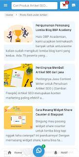 Screenshot Aplikasi Toko Online