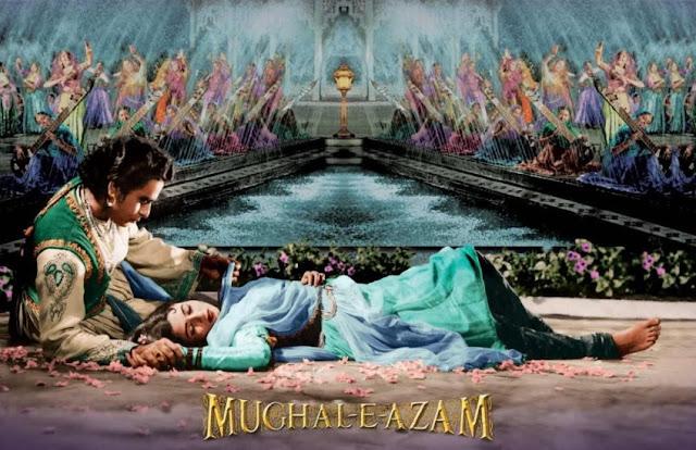 Dilip Kumar and Madhubala in Mughal-E-Azam (1960)