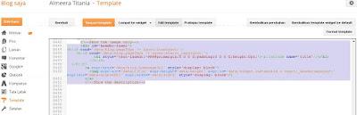 Contoh Pemasangan Kode