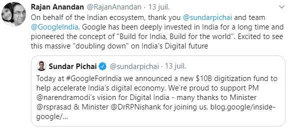google invests in india digitlization