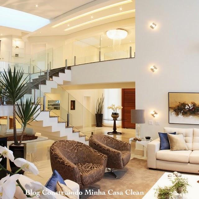 construindo minha casa clean top 10 salas de estar decoradas e super modernas. Black Bedroom Furniture Sets. Home Design Ideas