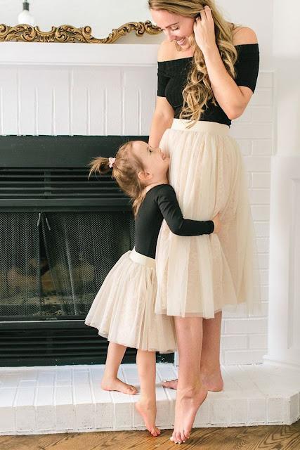 mama e hija con tutu