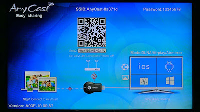 Tampilan AnyCast DLNA/Airplay/Airmirror