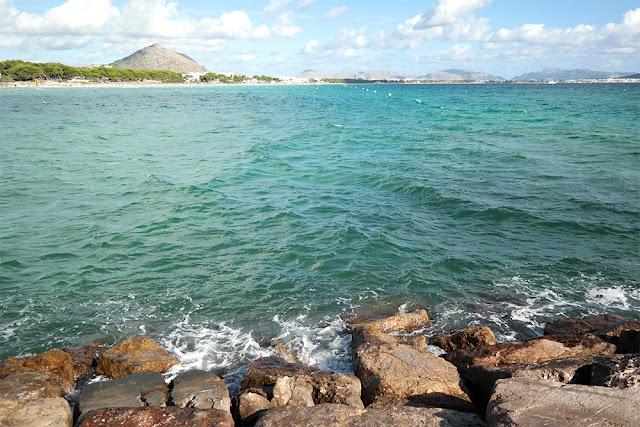 Blick über den Strand von Playa de Muro
