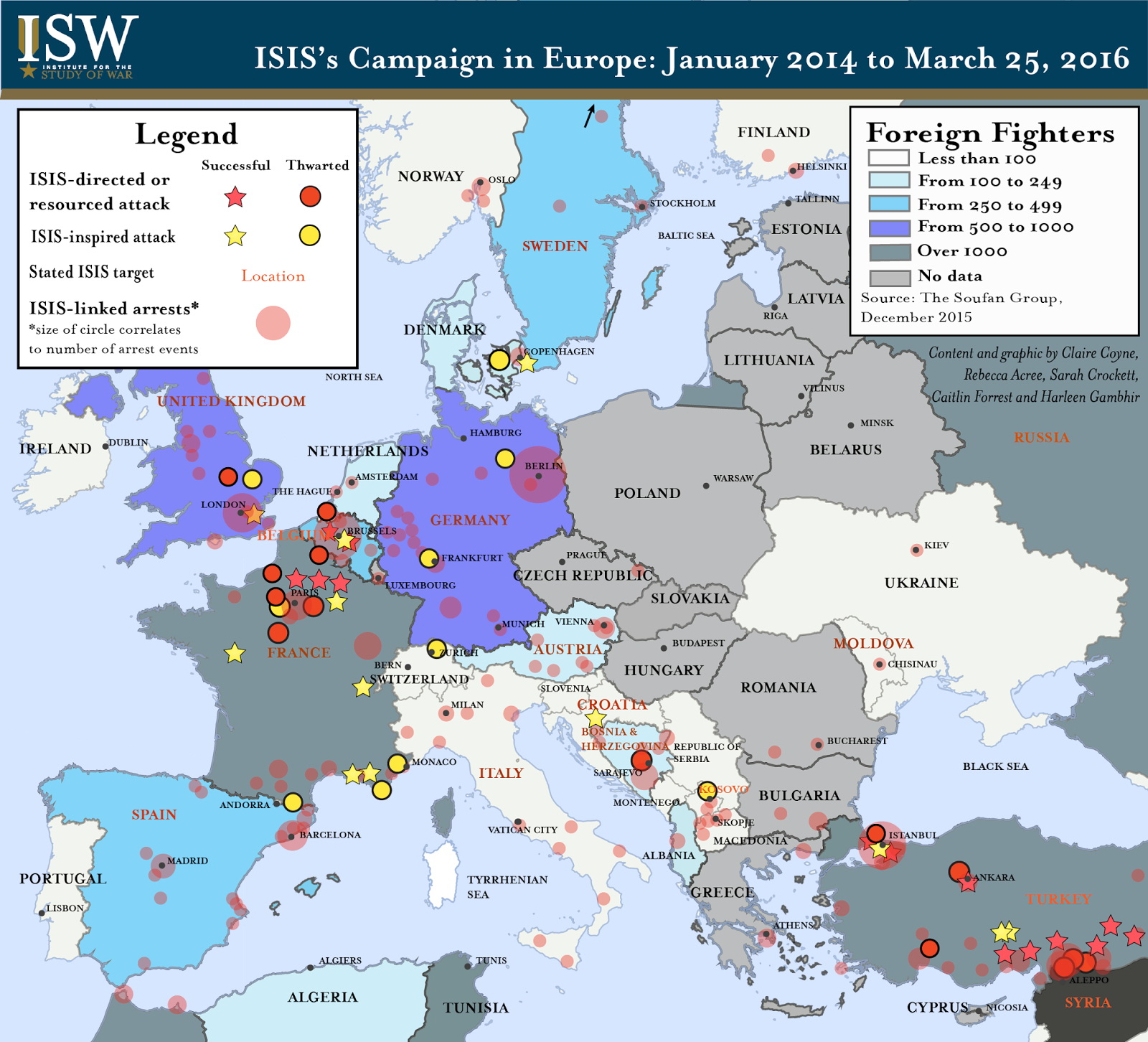 ISIS's Campaign in Europe (January 2014 - March 2016)