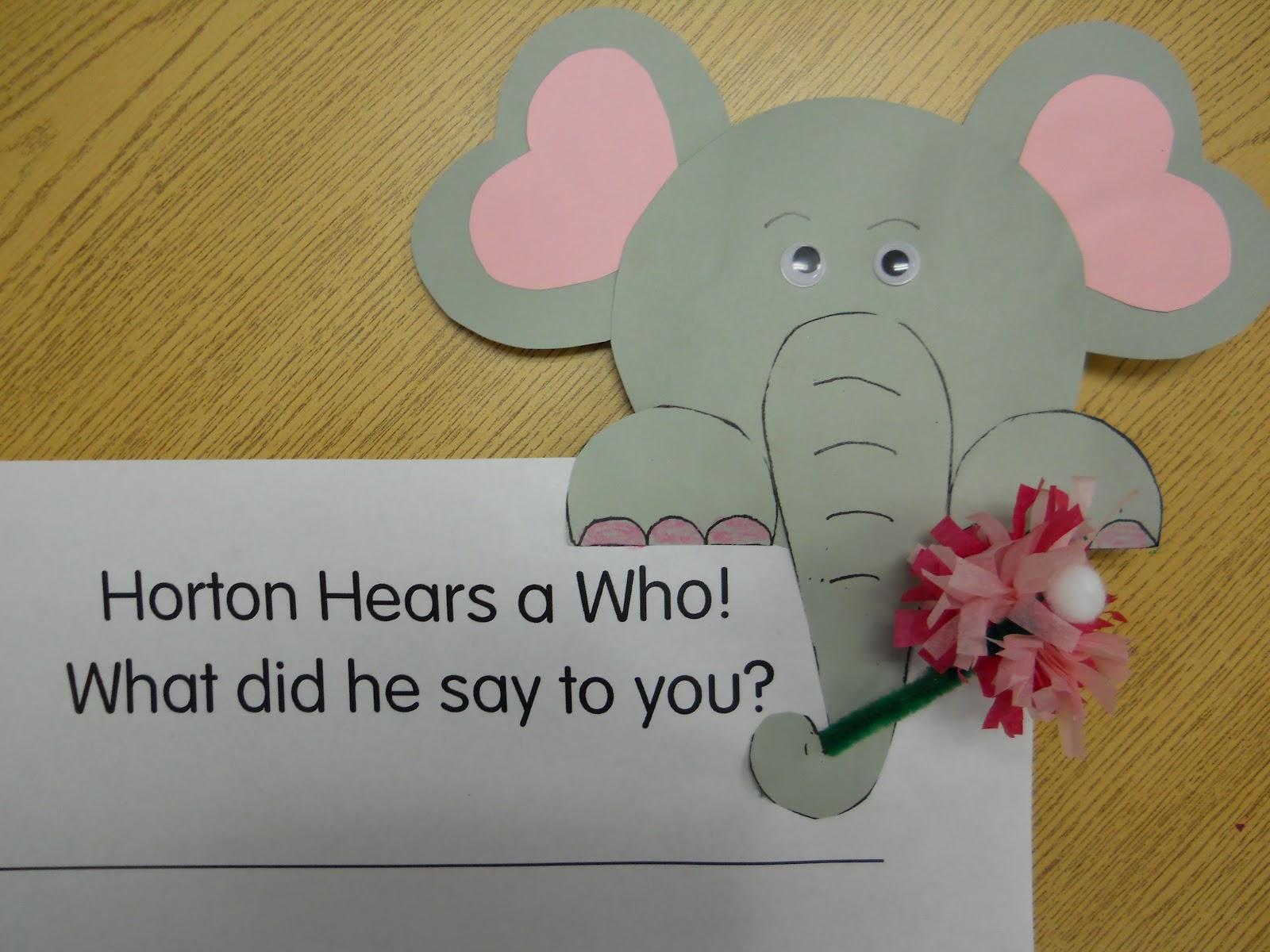 Mrs T S First Grade Class Horton Hears A Who
