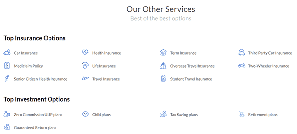 Policy Bazaar Top Insurance Options