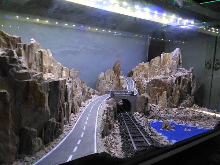 Con đường núi đá hùng vĩ được mô phỏng trong bể thủy sinh, thủy sinh là không có giới hạn về sự sáng tạo
