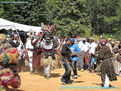 The igbo village built in Virginia USA where people practise igbo traditions