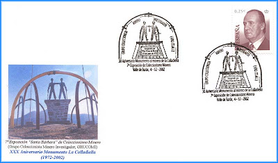 Sobre con matasellos del parque minero La Colladiella, Grucomi, Turón 2002