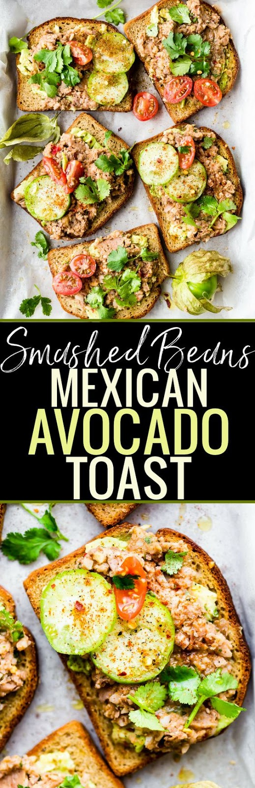 SMASHED MEXICAN BEANS AVOCADO TOAST {VEGAN FRIENDLY}