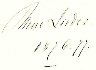 Mathilde Wesendonck: Titelseite Autografensammlung Neue Lieder 1876.77
