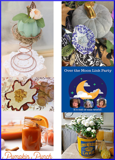 Over The Moon Linky Party. Share NOW DIY, crafts, home decor, recipes with bloggers and readers. Sunday ~ Thursday. 3 hostesses. 5 features. #linkparty #linkparties #OTM #eclecticredbarn