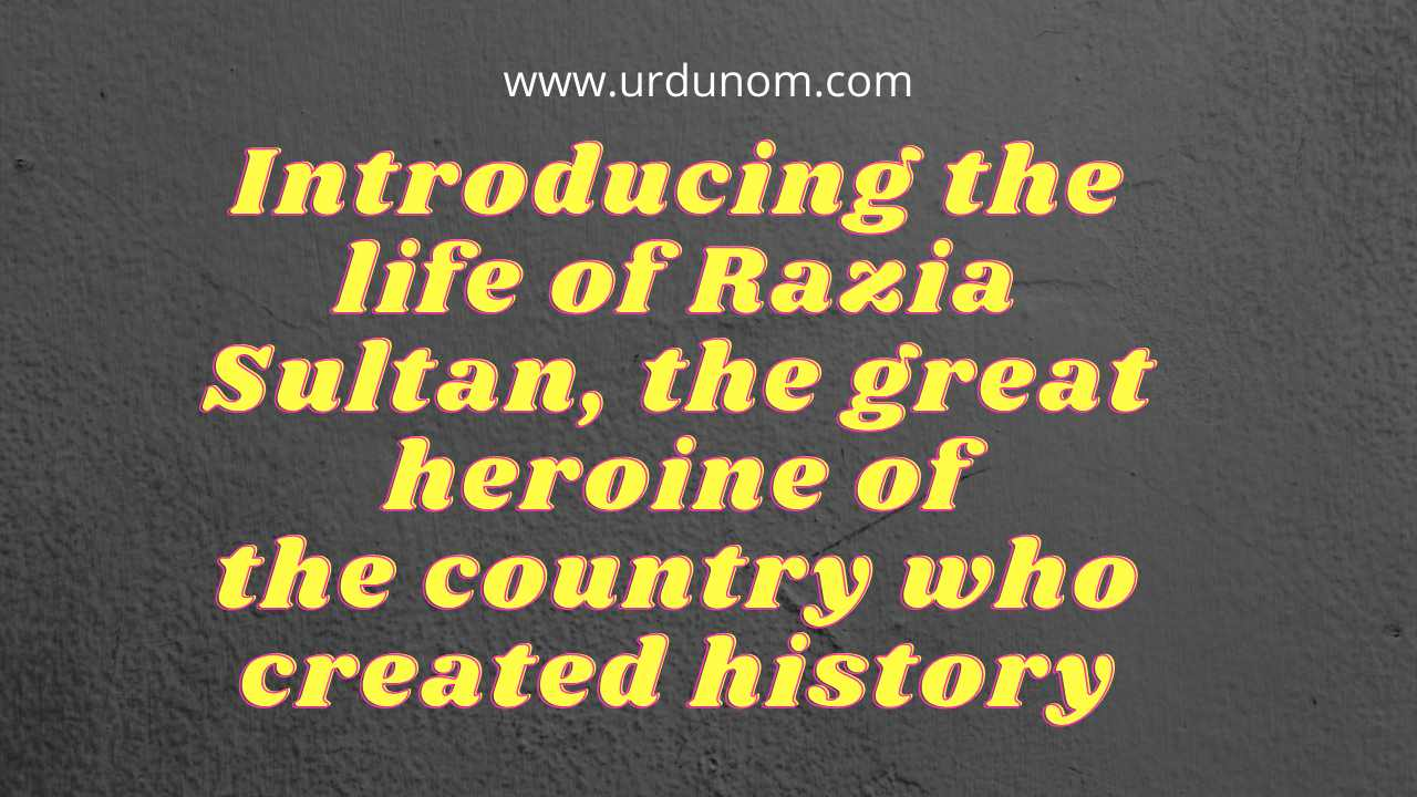 Introducing the life of Razia Sultan, the great heroine of the country who created history