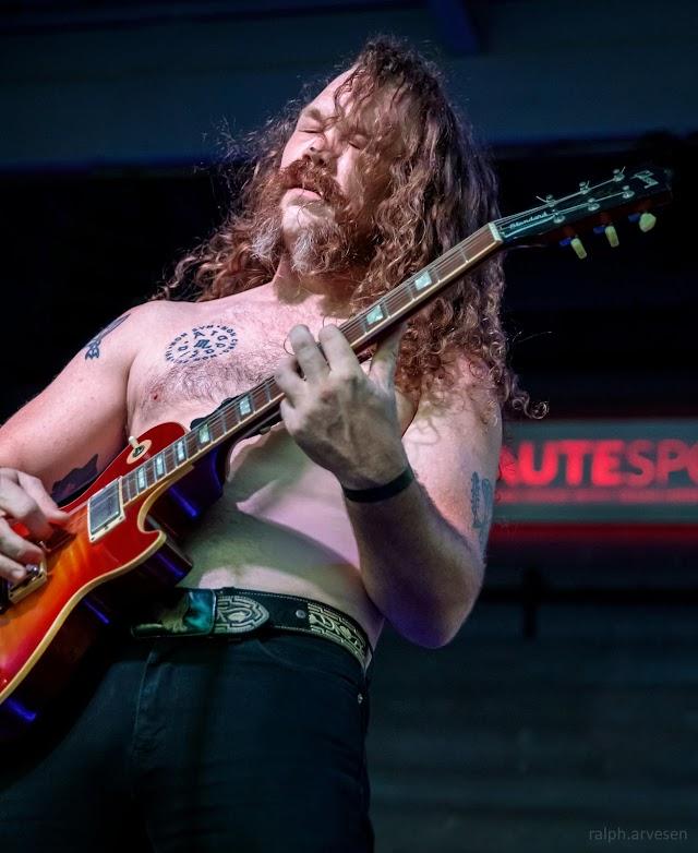 Greenbeard performing at the Haute Spot Music Venue in Cedar Park, Texas