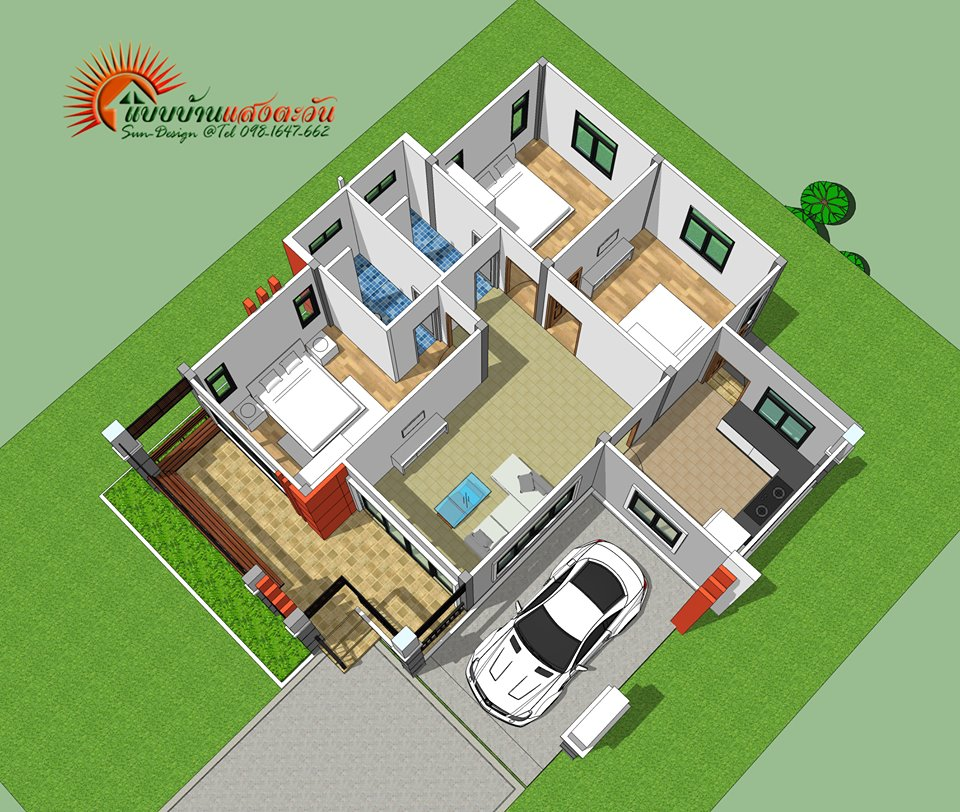 So you are planning to build your dream home soon, but you're in need of house designs and floor plan to get an idea to start your construction process. So if you are looking for youse designs with floor plan this post might help you. The following single-story houses are modern in designs with floor plans that easy to consider!   The great thing about looking at the floor plan for a one-family house is that it will guide your own home construction idea when it comes to layout and orientation of bedrooms, the kitchen, bathrooms, and even the garage. Interested? Well here are some awesome homes to help your architecture.