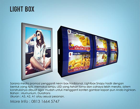 Harga Neon Box Online Berkualitas dari Snapy