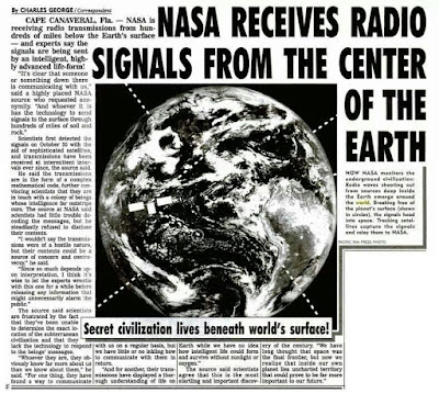 Signals comning from the center of the Earth are radio.