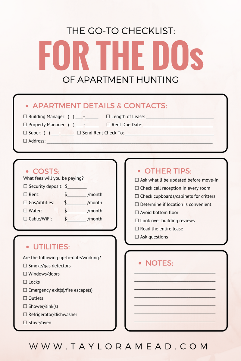 Apartment Hunting I Made These Mistakes So You Won T Have To