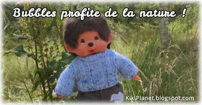 kiki Monchhichi promenade campagne plushie life