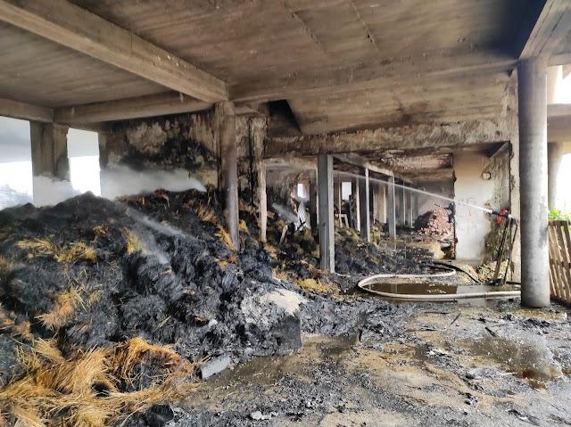 "Gusinje: Požar u bivšoj zgradi ""Termoplasta"", uništeno više vozila"