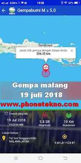 Gempa bumi Malang hari ini 19 juli 2018
