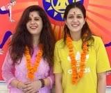 Isha Rikhi with her sister