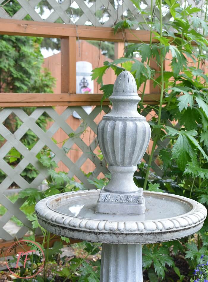 DIY Bird Bath Finial