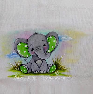 pintura fralda elefantinho cinza