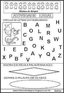 Atividade legal de alfabetização D