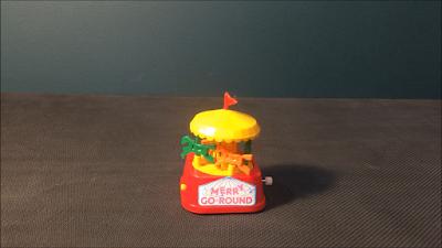 1980s Old Day Retro Merry Go Round Toy